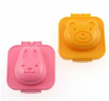 Japanese Bento Lunch accessories RABBIT/BEAR BOILED EGG MOLD 2PCS Made in Japan