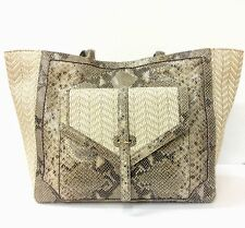 NEW WITH TAGS Tory Burch 797 Open EW Tote Natural Raffia/Natural Snake