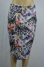 Thalia Sodi Womens Large Animal Flower Print NEW Pencil Skirt Mid Calf Length