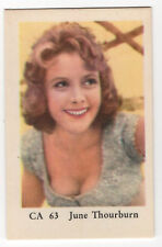 1960s Swedish Film Star Card CA 63 British TV & Movie Actress June Thorburn