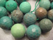 Lemon Chrysoprase Faceted 16mm Round Beads 25pcs