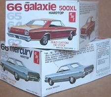 2 nice MINT-IN-BOX AMT 1966 FORD GALAXIE & MERCURY PARK LANE 1/25 MODEL CAR KITS