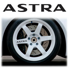OPEL / VAUXHALL ASTRA ALLOY WHEEL WHEELS STICKERS DECALS GRAPHICS X6