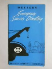 WESTERN Emergency Service Directory 1955 AMERICAN AUTOMOBILE ASSOCIATION or AAA