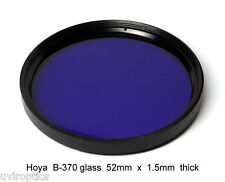 Hoya B-370 52mm x 1.5mm thick UV Ultraviolet Bandpass Dual Band IR Camera Filter