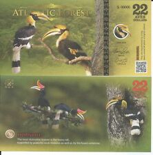 ATLANTIC FOREST BILLETE 22 AVES DOLLARS 2016 SPECIMEN
