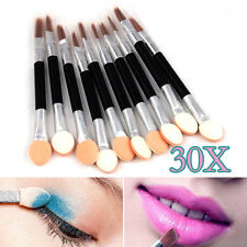 30pcs Disposable Double Ended Eye Shadow Applicators Sponge Make up Brush