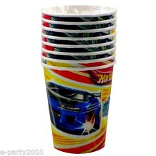 HOT WHEELS Fast Action 9oz PAPER CUPS (8) ~ Birthday Party Supplies Tableware