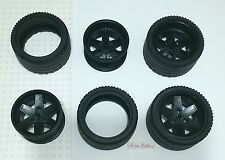 4x Lego BIG Tire 68.8 x 36 ZR and Wheel 56 D x 34 Technic Racing 8145