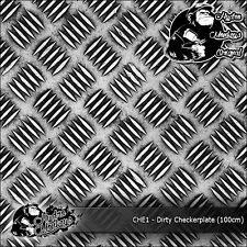 1m de sucio checkerplate (CHE1) 100cm Hydrographics Water Transfer Film