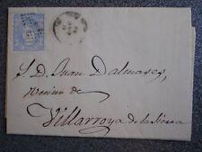CARTA AÑO 1872 EDIFIL 107 CALATAYUD A VILLARROYA DE LA SIERRA