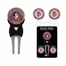 NCAA Florida State Seminoles Golf Divot Tool and 3 Ball Markers Enamel Team Logo