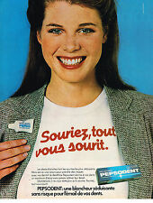 PUBLICITE ADVERTISING 094  1979  PEPSODENT  dentifrice SOURIEZ