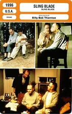 Fiche Cinéma. Movie Card. Sling Blade (USA) 1996 Billy Bob Thornton
