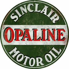 Reproduction  Sinclair Opaline Motor Oil Gas Station Sign Garage Art