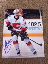 Sven Baertschi Autographed 8x10 Photo Calgary Flames Winterhawks Switzerland