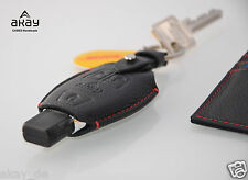 Remote Fob LEATHER KEY COVER CASE HOLDER FOR MERCEDES CLS-Class w219 BLACK NEW