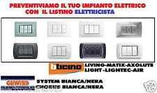 PREVENTIVO ED ACQUISTO IMPIANTO ELETTRICO BTICINO MATIX LIVING AXOLUTE LIGHT AIR