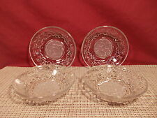 "Princess House Crystal Fantasia Set of 4 Fruit Bowls 5 1/2"" Frosted Center"