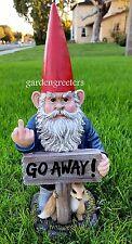 GARDEN STATUE GNOME, GNOME WITH MIDDLE FINGER , GNOME FIGURINE