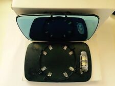 BMW 3/5-Series E46 E39 Mirror Glass Heated Right Side With Plate Blue Tinted