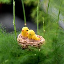 1XCute Resin Mini Bird Nest Miniature Landscape For Home Garden Decoration
