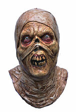 Halloween LifeSize Costume EVIL ZOMBIE MUMMY LATEX MASK Haunted House NEW