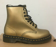 DR. Martens 1460 GOLD SPECTRA PATENT LEATHER STIVALI TAGLIA UK 6