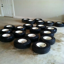 Used Set of 4  Golf Cart Tires and Rims For EZ GO Carts Carts 75%+ tread left
