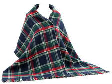 REDUCED TO CLEAR!Women Scottish Tartan Check Large Scarf Wrap -BU/RD/GN