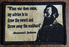 Civil War Stonewall Jackson Morale Patch Tactical Military Army Badge Hook Flag