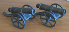 Vintage 2 brass cannons heavy toy or souvenir item