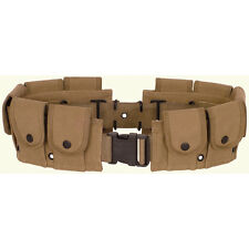 10 Pocket Khaki Mosin Nagant Utility Pouch Cartridge Ammo Canvas Adjustable Belt