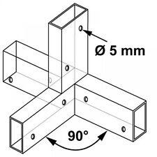 Plug in connector for Wooden slats Middle section I 90°