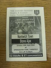25/04/2004 Cheadle Junior League U11 League Cup Final: Nantwich Town v Stone Aja