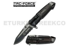 "8.5"" TAC FORCE EMT SPRING ASSISTED KNIFE w/ LED LIGHT Pocket Blade Assist Switch"