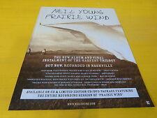 NEIL YOUNG - Publicité de magazine / Advert PRAIRIE WIND !!!!!!!