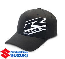 SUZUKI GSXR REFLECTIVE HAT 3D FLEXFIT WHITE LG/XL CAP 990A0-17105