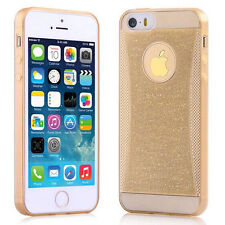Gold for Apple iPhone 5/5s SE Thin Crystal Rubber Soft Silicone Cover Case Skin