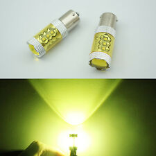 2 CANBUS 80W Bau15s 7507 PY21W High Power CREE LED Turn Signal Light Bulb Yellow