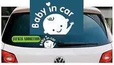 BABY IN CAR / ON BOARD Vinyl Car Van Decal Sticker Logo - 20 X 15 cm