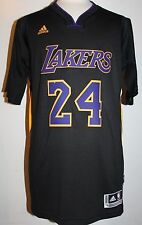 NEW Kobe Bryant Los Angeles Lakers Hollywood Nights Black Swingman Jersey SMALL
