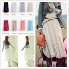 Sexy Women Pleated Chiffon Long Maxi Skirt Elastic Waist Band Dance Dress