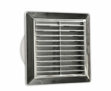 "Chrome Air Vent Grille 165mm x 165mm Ducting 100mm 4"" Ventilation Cover Grid P33"