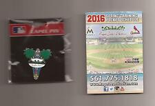CARDINALS & MARLINS 2016 Spring Training *Roger Dean Stadium* Lapel Pin (Sealed)