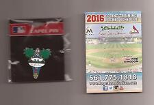 CARDINALS & MARLINS 2016 Spring Training *Roger Dean Stadium* Lapel Pin (Sealed)