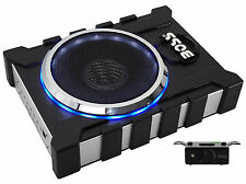 "Boss BASS1300.3 8"" 1300W Slim/Low Profile Powered Subwoofer Sub+2-Ch. Amp Output"