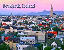 Iceland - REYKJAVIK - Travel Souvenir Flexible Fridge MAGNET