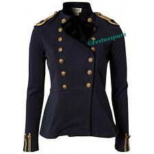 $198 Denim&Supply Ralph Lauren Peplum Military Officer Jacket-Women- L