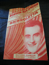Partition Bonsoir mon amour Marly Gus Viseur Brindoletta Brindeau Music Sheet